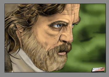 Luke Skywalker The Last Jedi Color version by Punch-line-designs