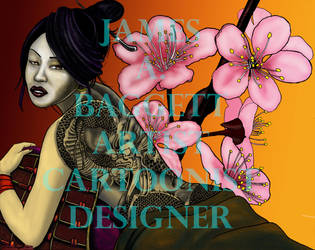 Dragon Tattooed Geisha by Punch-line-designs