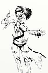 Mileena  - sketch by Kachakacha