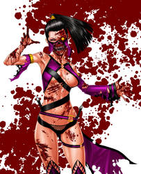 Mileena  - color by Kachakacha