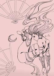 Kitana  - sketch by Kachakacha
