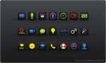 Black Neon Agua: iPhone Theme by ToffeeNut