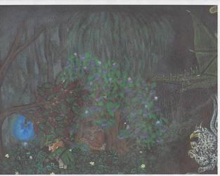 Mystical hide painting part 1 by Destarte