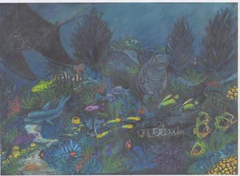 Ocean hide painting 2 by Destarte