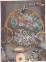 Golden dragon and Tiger by Destarte