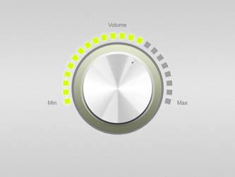 GUI Volume Knob PSD by DRX-Design