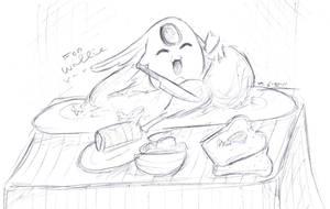 Mokona Sketch for Wallie by MoPotter