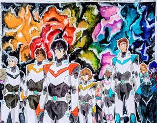 DREAM TEAM Voltron Season 7 Watercolor by MoPotter
