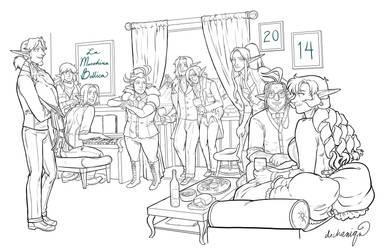 New Year 2014 - Macchina 6th Anniversary by DeannaEchanique