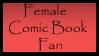 Female Comic Book Fan Stamp by Dragonnerd445