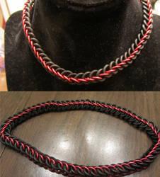 Red Half Persian Stretchy Choker by BradsCC