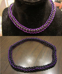 Purple Half Persian Stretchy Choker by BradsCC