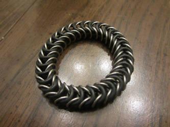 Steel Stretchy Box Weave Bracelet by BradsCC