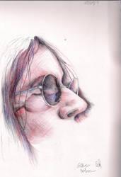 Steven Wilson cross hatch by RainyDaySunflower