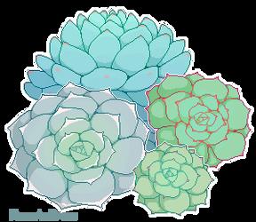 Pixel Succulents [ftu] by MoonstarDraws
