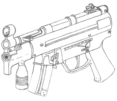 Mp5k Drawing By Fewes On Deviantart