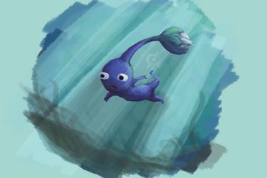 Blue Pikmin by Smearg