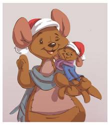 Kanga And Roo's Christmas by yoshitura