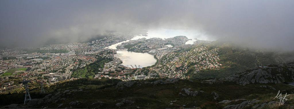Bergen from Ulriken by Gibbich