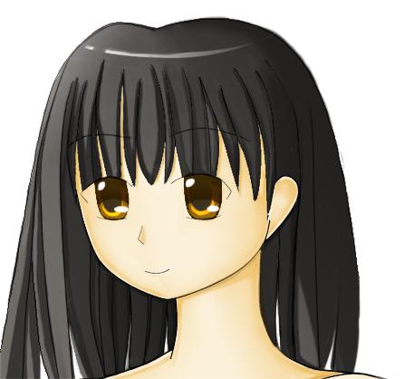 Black hair girl by hfreenote