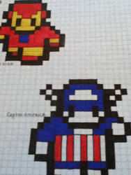 iron man and captain america! by khlover-san