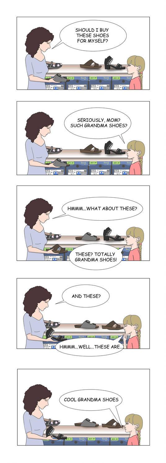 Grandma Shoes by JackieBeeStories