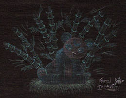 Turquoise lunar panda by FeralxInsaNitY