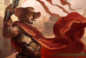 Overwatch - McCree by Zendanaar
