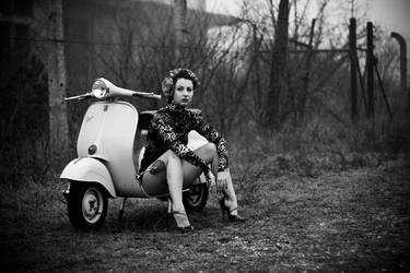 Kitty and the vespa by thePartisan