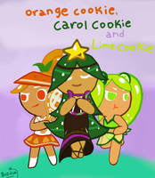 Orange Cookie, Carol Cookie and Lime cookie by Imoliveruke