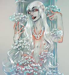 garlic flower by LayLoL
