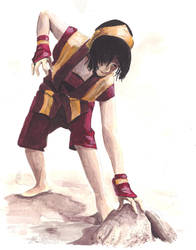 fire nation toph earthbend by farahboom on deviantart