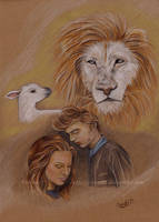 The Lion and The Lamb by Vitani88