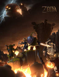 LEGO The Legend of Zelda Poster by Ragaru