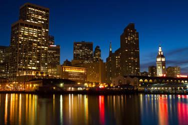 San Francisco at night by dpierce1313