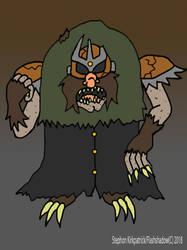 Inktober Day 5: Mogarth: King of the Mole Men by Flashshadow