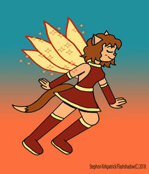 Inktober Day 6: Neko-Fairy - Negumi Miyu by Flashshadow