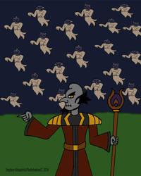 Inktober Day 7: Necromancer -Deadrick DeMalco by Flashshadow