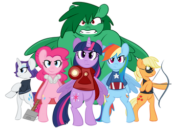 Pony Avengers [Commission] by FlaminBunny