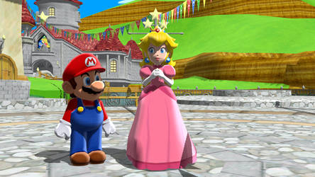 MMD - Normal Hangout (Mario and Peach) by ZachmanAwesomenessII