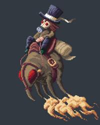 Pixel Art Gas Powered Fartbug by Dulcahn