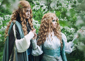 Silmarillion:  Galadriel and Finrod by Alvi