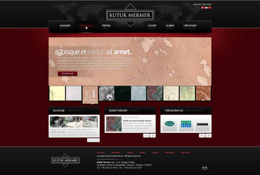Marble Company Web Interface Design by mansonloverz