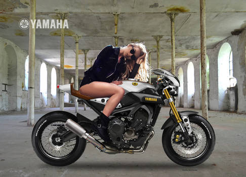 YAMAHA XSR 900 MASHUP Girl by obiboi