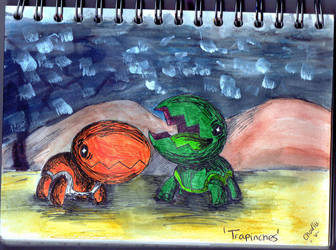 Trapinch in the sand by iWildBlood
