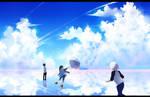 BlaCr _ Our blue sky by yamashyn