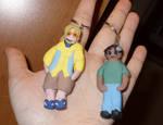 TJ and Amal Keychains by mizukitiger