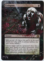 Extirpate - MTG Alter by seesic