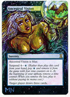 Ancestral Vision - MTG Alter by seesic