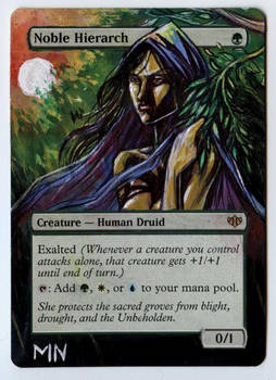 Noble Hierarch - MTG Alter by seesic